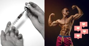 """needle and bodybuilder getting """"likes"""""""